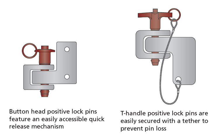 Button Head and T-Handle Pins