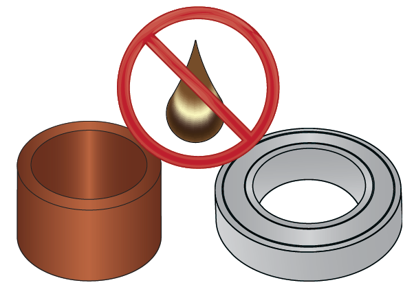 Sintered Bronze and Sealed Roller Bearings