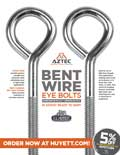 Aztec Bent Wire Eye Bolts