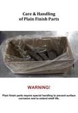 Care & Handling of Plain Finish Parts