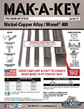MAK-A-KEY® Nickel-Copper Alloy / Monel® 400 Key Stock