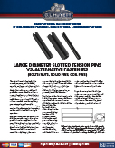 Large Diameter Slotted Tension Pins