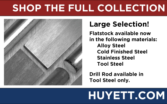 Shop the full collection of flatstock and drill rod on Huyettdotcom