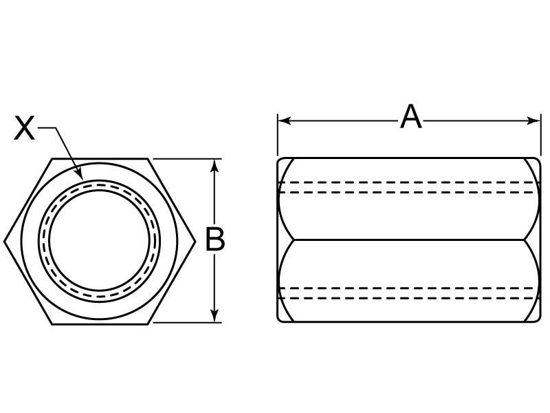 Coupling Nut Measurement