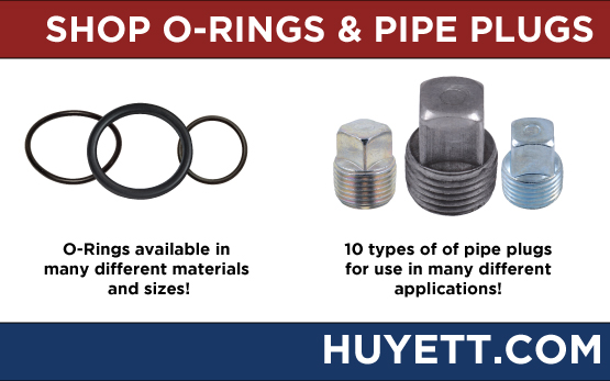 Shop o-rings and pipe plugs on Huyettdotcom