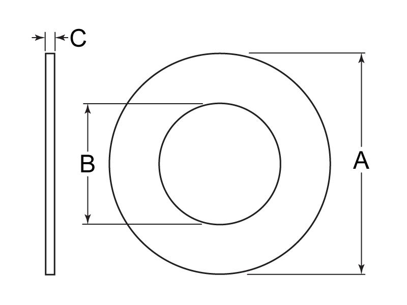 Flat Washer Tech Drawing