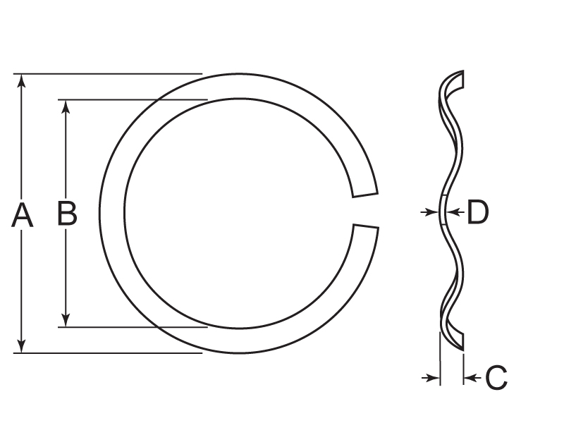 Wave Washer Tech Drawing