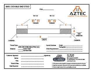 Bar / Double End Stud | Aztec Lifting Hardware