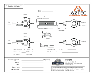 Clevis Assembly | Aztec Lifting Hardware
