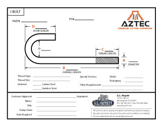 J Bolt | Aztec Lifting Hardware