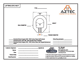 Lifting Eye Nut | Aztec Lifting Hardware