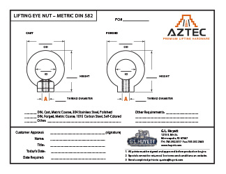 Lifting Eye Nut - Metric | Aztec Lifting Hardware
