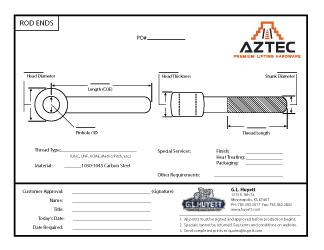 Rod End | Aztec Lifting Hardware