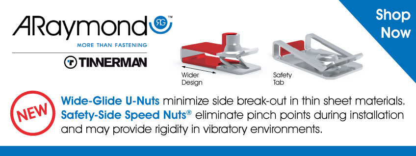 ARaymond Tinnerman Wide-Glide U-Nuts and Safety-Side Speed Nuts