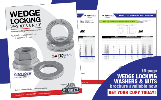 Download or request your Wedge Locking Washers & Nuts Brochure