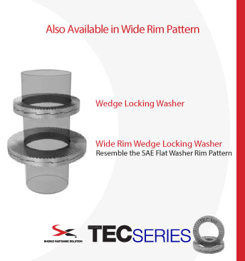 TecSeries Washers, available in standard and wide rim patterns