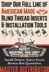 American Made AVK Rivet Nuts, Studs, and Installation Tools