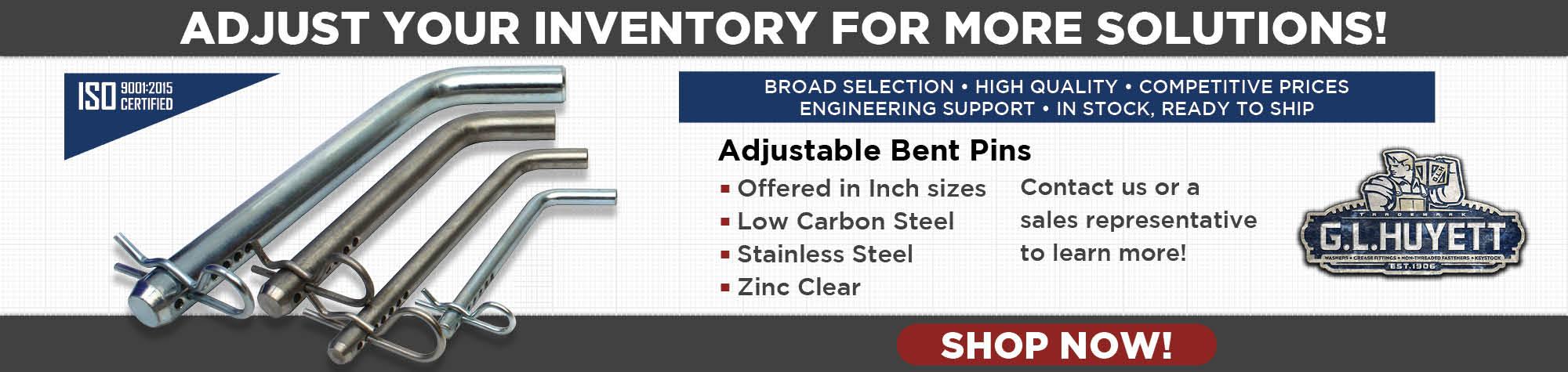 Adjustable Bent Pins