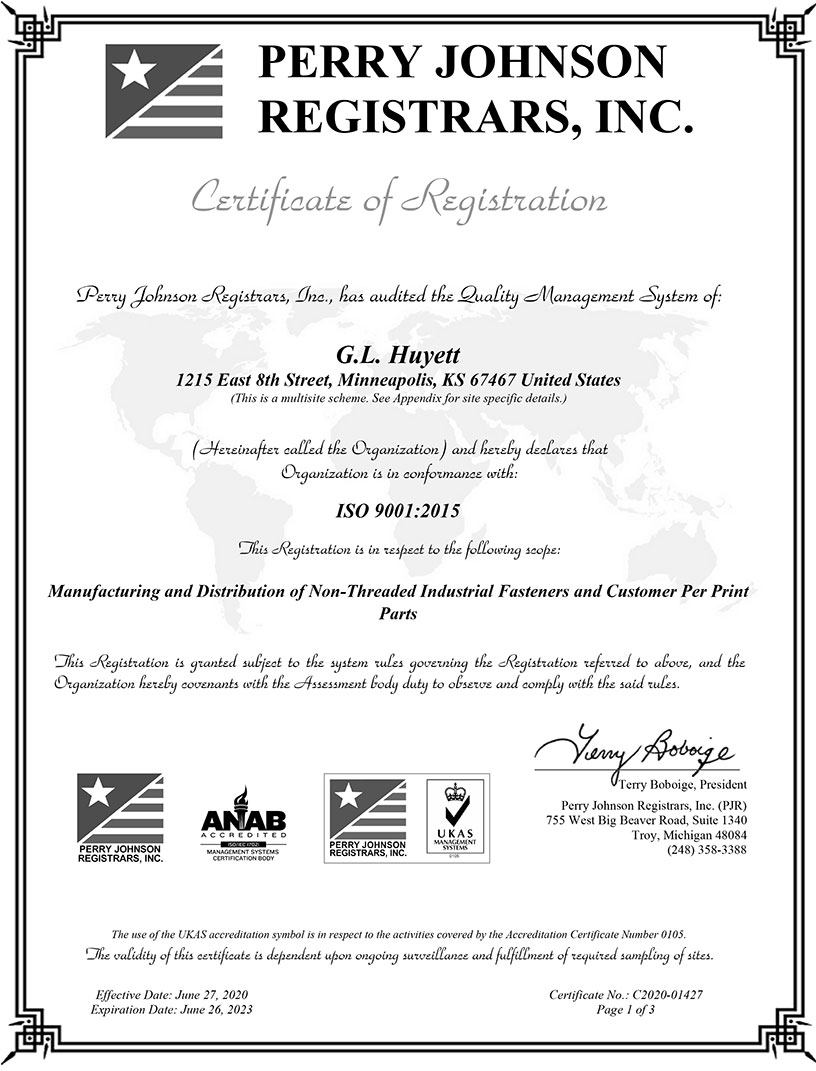 ISO Certification 9001:2015